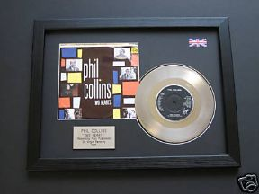 "PHIL COLLINS - Two Hearts 7"" Platinum Disc with cover"